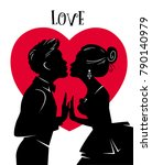 valentines day card. lovers... | Shutterstock .eps vector #790140979