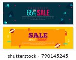 abstract banner design with... | Shutterstock .eps vector #790145245