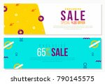 creative banner for sale in... | Shutterstock .eps vector #790145575