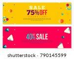 futuristic bright banners in... | Shutterstock .eps vector #790145599