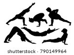 silhouette of middle aged women ...   Shutterstock .eps vector #790149964