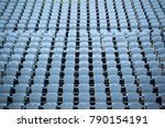 rows of seats in the stadium   Shutterstock . vector #790154191