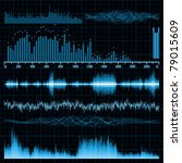 sound waves set. music... | Shutterstock .eps vector #79015609
