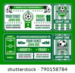soccer ticket template of... | Shutterstock .eps vector #790158784