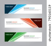 abstract banner background... | Shutterstock .eps vector #790160119