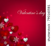 happy valentines day background ... | Shutterstock .eps vector #790160581