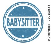 babysitter grunge rubber stamp... | Shutterstock .eps vector #790160665