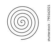 thin black spiral symbol.... | Shutterstock .eps vector #790162021