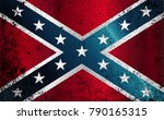 the flag of the confederates... | Shutterstock .eps vector #790165315