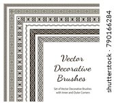 vector decorative brushes with... | Shutterstock .eps vector #790166284
