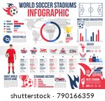 world soccer stadiums... | Shutterstock .eps vector #790166359