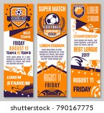 soccer championship match... | Shutterstock .eps vector #790167775