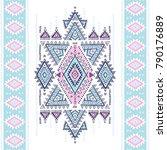 geometric aztec pattern. tribal ...   Shutterstock .eps vector #790176889
