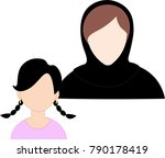 emirate mother   daughter  icon ... | Shutterstock .eps vector #790178419