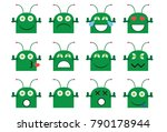 illustration of alien emoji ...