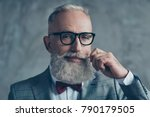 close up portrait of grinning... | Shutterstock . vector #790179505