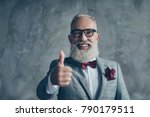 well done  portrait of cheerful ... | Shutterstock . vector #790179511