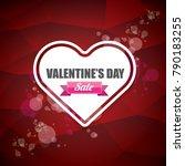 valentines day heart shape sale ... | Shutterstock .eps vector #790183255
