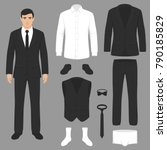 vector illustration of a men... | Shutterstock .eps vector #790185829