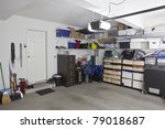 untidy suburban garage with... | Shutterstock . vector #79018687