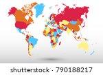 color world map vector | Shutterstock .eps vector #790188217
