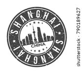shanghai china asia big world... | Shutterstock .eps vector #790189627