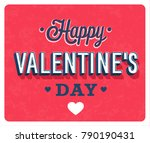 happy valentines day vintage... | Shutterstock .eps vector #790190431