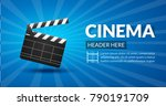 film retro cinema or movie... | Shutterstock .eps vector #790191709