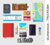 set of vector elements for... | Shutterstock .eps vector #790195384