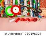 cotton fabric and objects for... | Shutterstock . vector #790196329