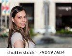 smiling woman city portrait   Shutterstock . vector #790197604