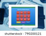 emr or electronic medical... | Shutterstock . vector #790200121