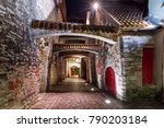 medieval street st. catherine's ... | Shutterstock . vector #790203184