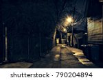 dark  gritty and wet chicago... | Shutterstock . vector #790204894