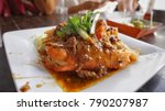 fried shrimp with sauce | Shutterstock . vector #790207987
