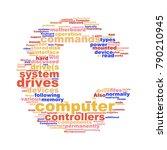 computer components word cloud... | Shutterstock . vector #790210945
