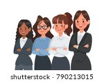 businesswoman character vector... | Shutterstock .eps vector #790213015