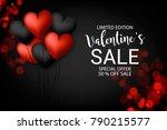 valentine's sale banner red... | Shutterstock .eps vector #790215577