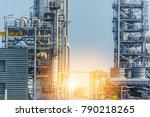 close up industrial zone. plant ... | Shutterstock . vector #790218265