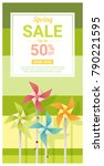 spring sale banner with... | Shutterstock .eps vector #790221595