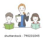 vector illustration character... | Shutterstock .eps vector #790231045