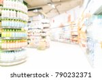 defocus blurred in supermarket... | Shutterstock . vector #790232371