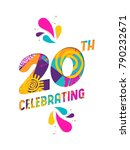 happy 20 twenty year... | Shutterstock . vector #790232671