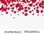flying random  chaotic red... | Shutterstock .eps vector #790239811
