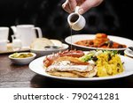 various brunch on the table | Shutterstock . vector #790241281