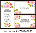 romantic invitation. wedding ... | Shutterstock .eps vector #790245055
