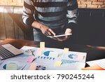 business man holding  digital... | Shutterstock . vector #790245244