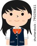 girl's honor student japanese...   Shutterstock .eps vector #790250611
