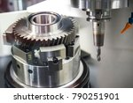 the cnc milling machine cutting ... | Shutterstock . vector #790251901