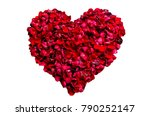 heart made of red petals  love... | Shutterstock . vector #790252147